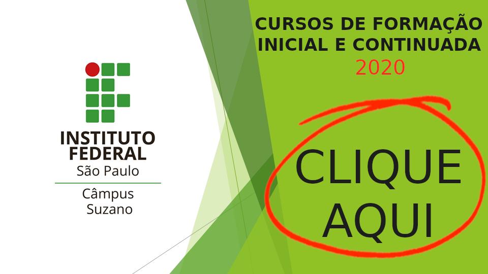 Cursos FIC 2020 - Em breve